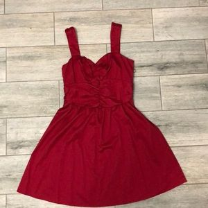 Red sweetheart neckline Express dress